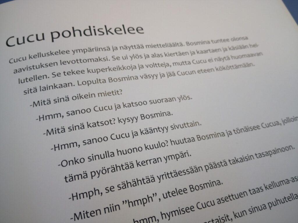 Tekstia Cucu & BOsmina -kirjasta.